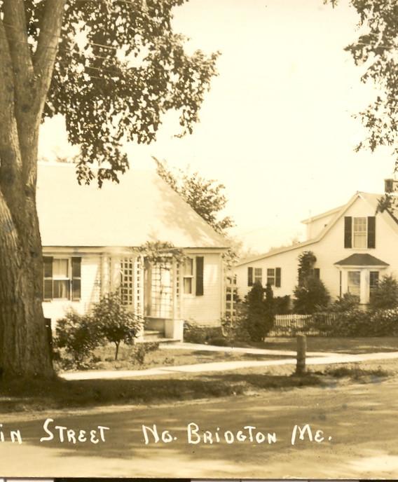 Main Street North Bridgton Postcard