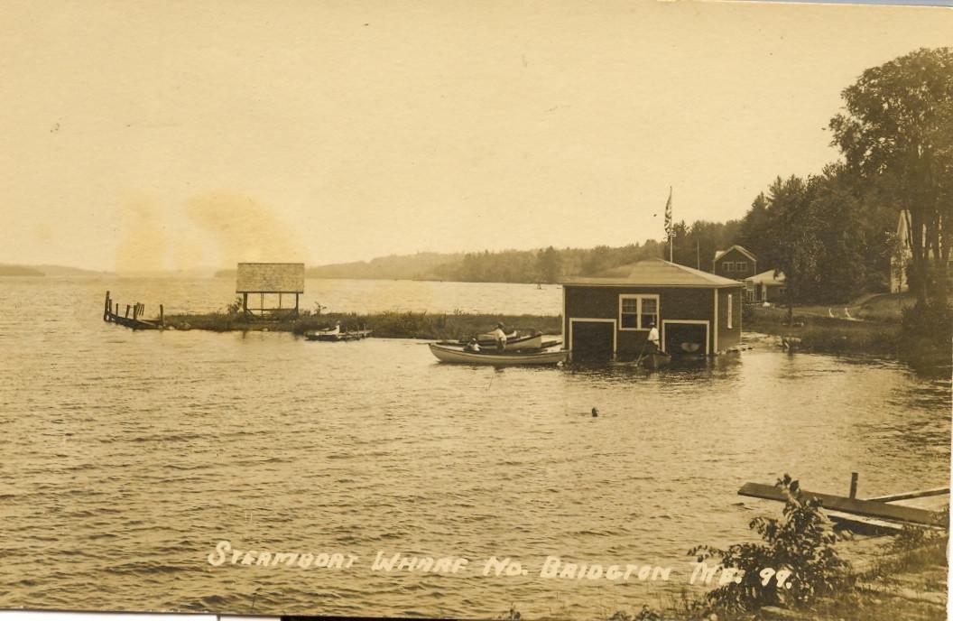 Steamboat Wharf North Bridgton Postcard (1899)