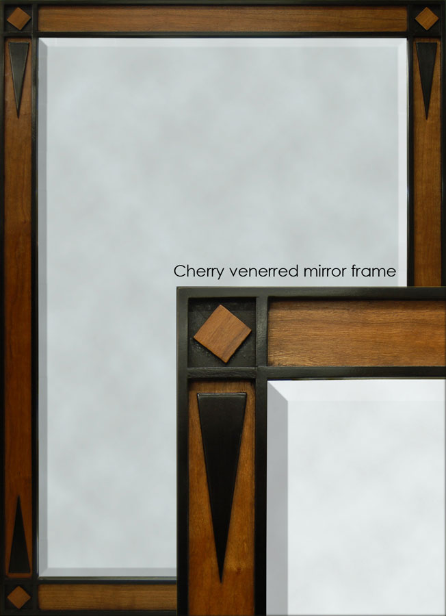 patrick cherry veneered mirror frame