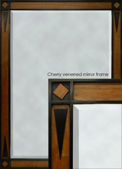 patrick cherry veneered mirror frame