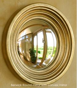 Berwick round mirror with convex mirror