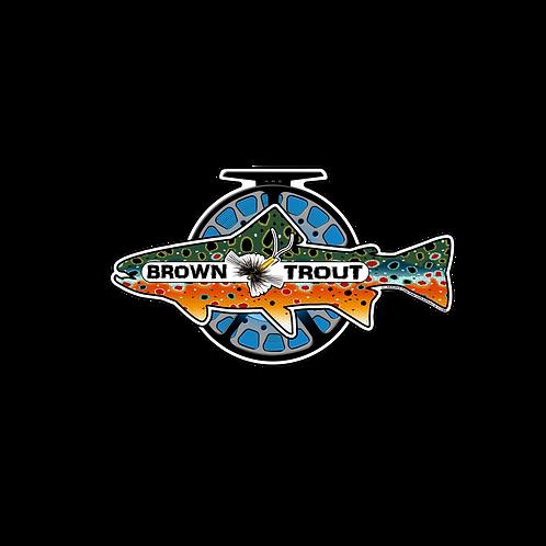 BROWN TROUT / REEL DECAL