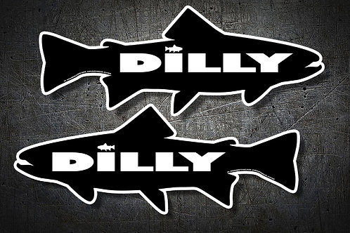 Dilly-Dilly_FISH ( #2 Decals ) LEFT & RIGHT SIDE OF BOAT