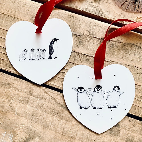 Pack of 4 Penguin Decorations