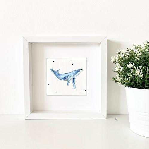 Mini Watercolour Humpback Whale Painting