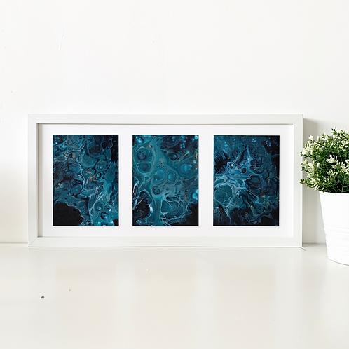 Deep blue trio