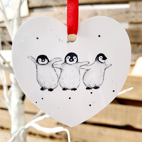 Dancing penguins Christmas decoration