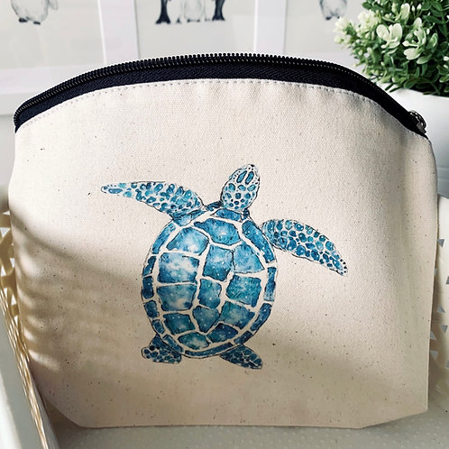 100% Natural Cotton Turtle wash bag