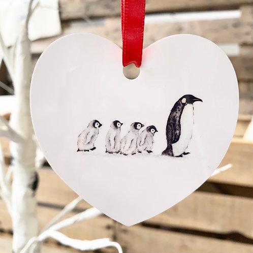 Penguin Family Christmas Decoration