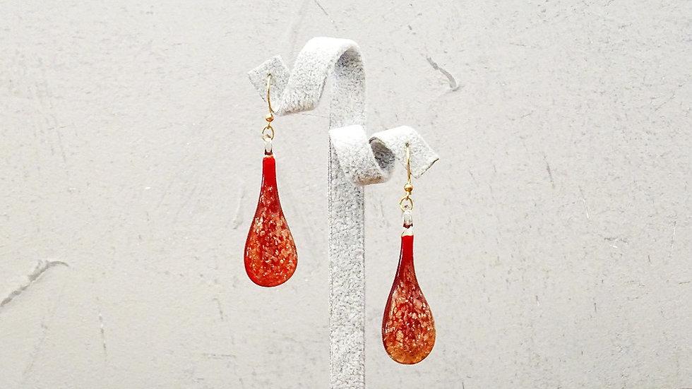Avventurina Murano glass earrings