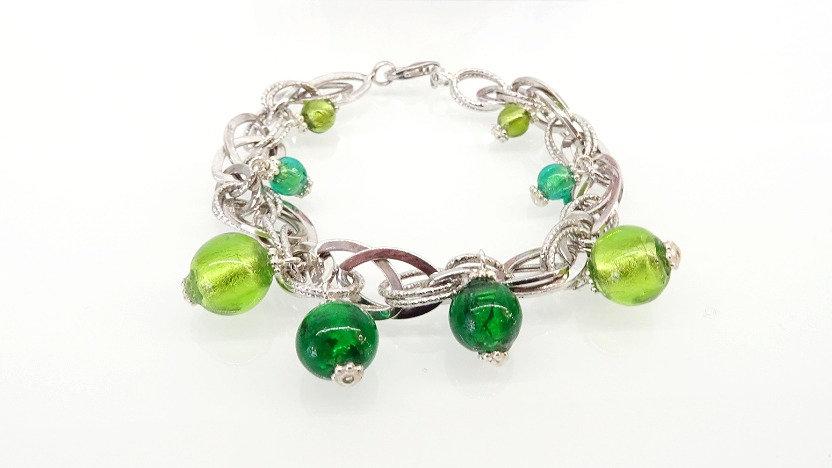 Silver bracelet Murano & Vetro