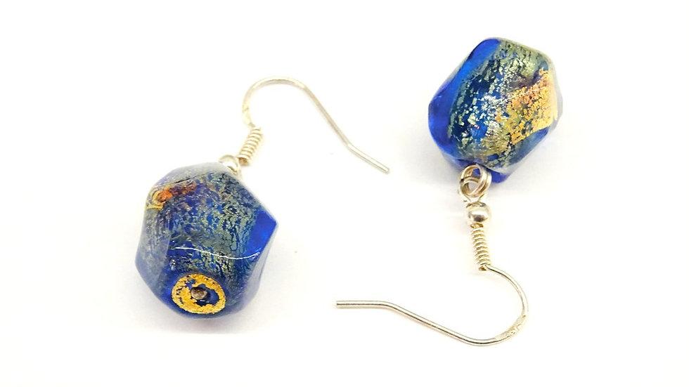 Murano glass gold earrings