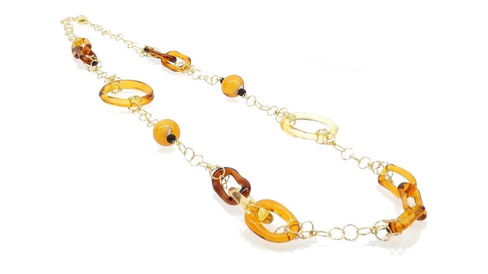 Women's necklace in Murano glass