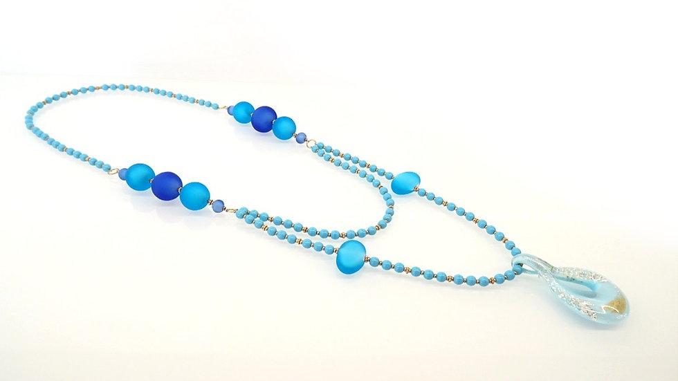 Layered Murano glass necklace