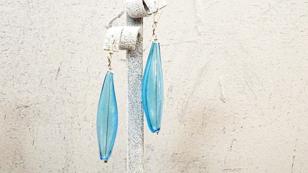 Clear Murano glass earrings