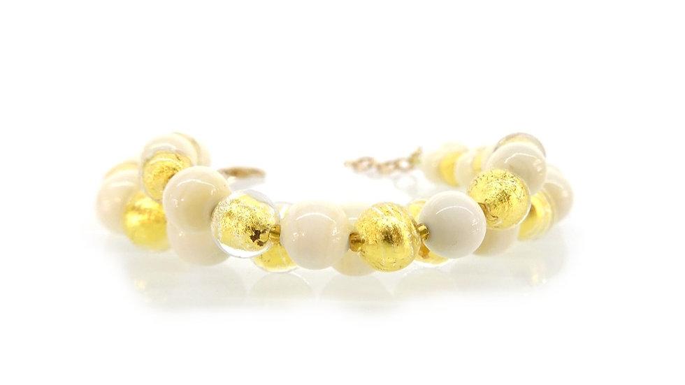 Murano glass bracelet with 24k gold
