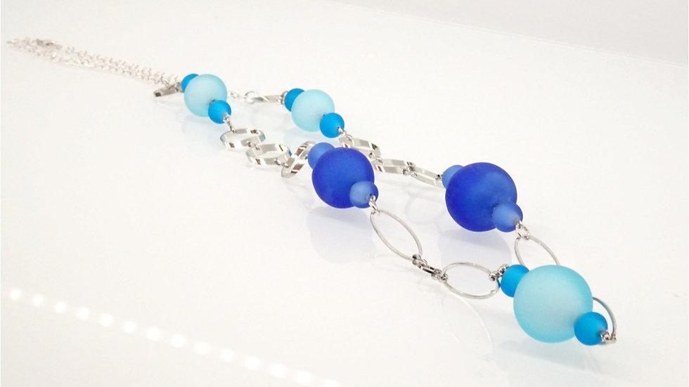 Satin Murano glass necklace