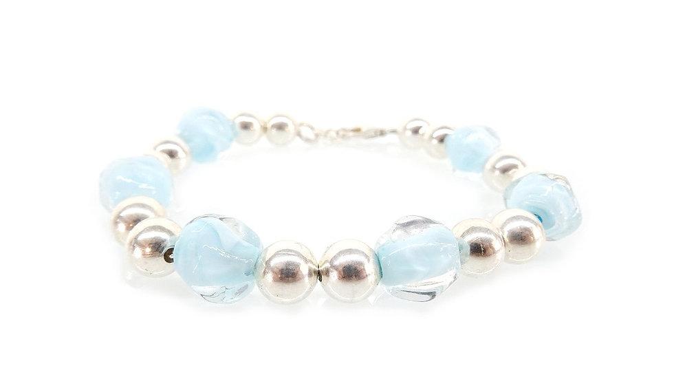 Murano glass bracelet 925 silver