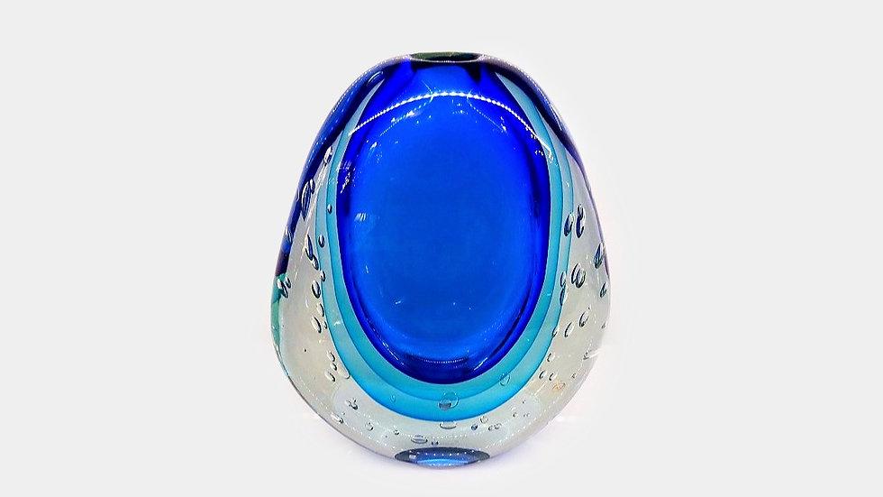 Blue Murano glass Vase Sommerso