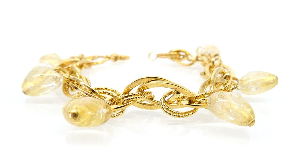 Murano glass and gold bracelet