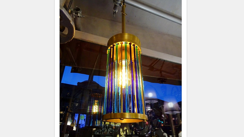 80s Murano glass ceiling lamp