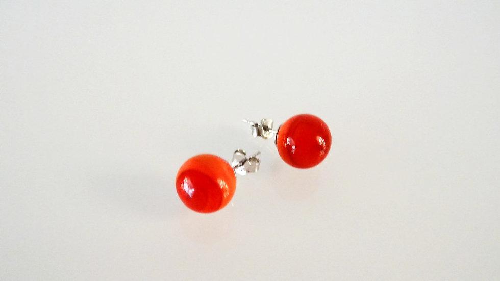 Original Murano glass earrings red