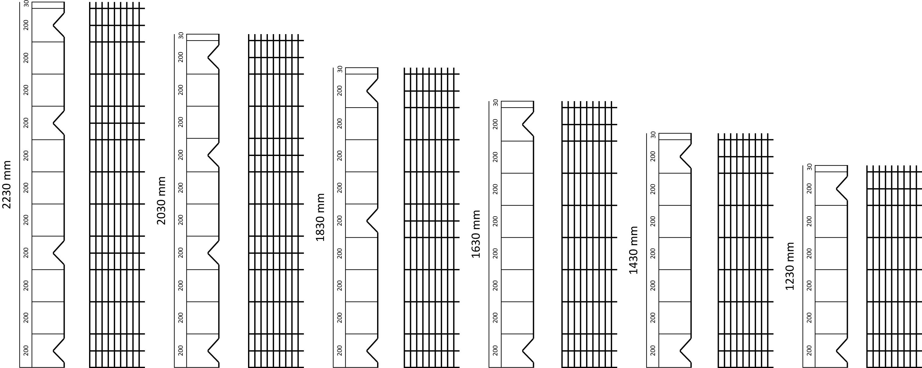 панели ограждения схема и размеры L