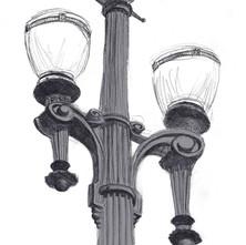 Ilustração de Poste de Luz de SP