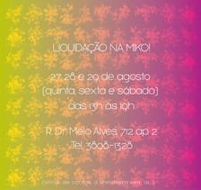 Convite | Liquidação 2015