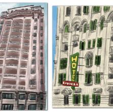 Illustrationen von Hochhäuser von SP