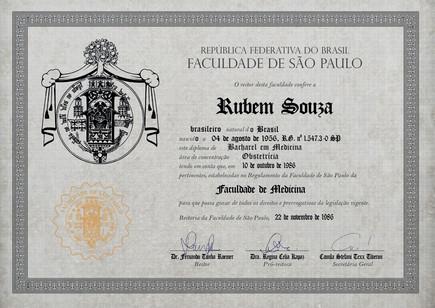 Diploma | Dr. Rubem Souza