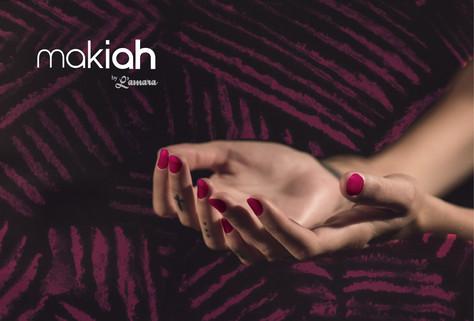Campanha Makiah | Layout texturizado