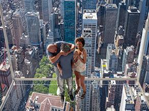 380 metros acima de Nova York - em um elevador!   Nível avançado