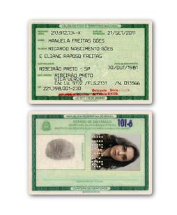 Manuela's ID card