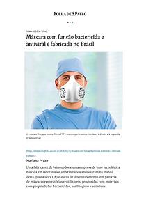 Máscara com função bactericida e antiviral é fabricada no Brasil – Sínteses