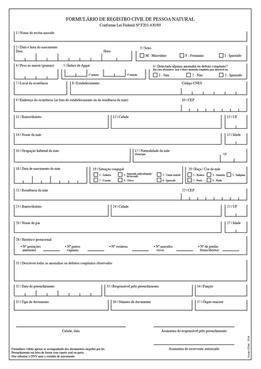 Live Birth Declaration