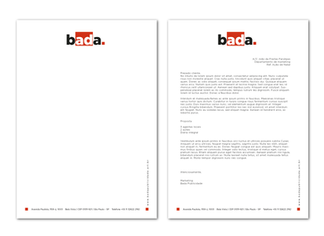 Agentur Briefpapier