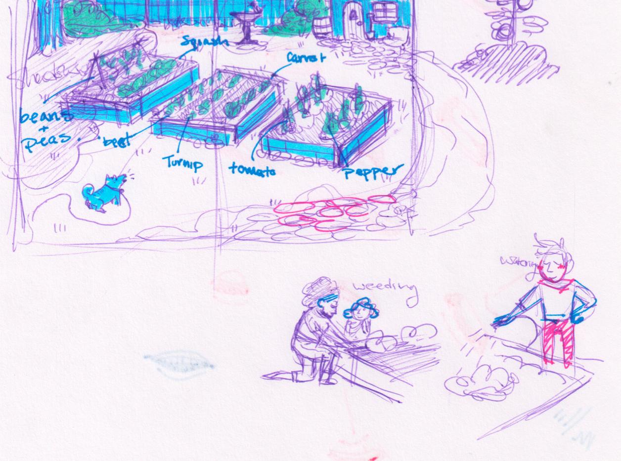 Centerfold sketch