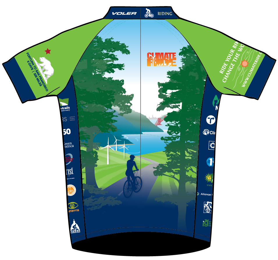 Climate Ride bicycle jerseys