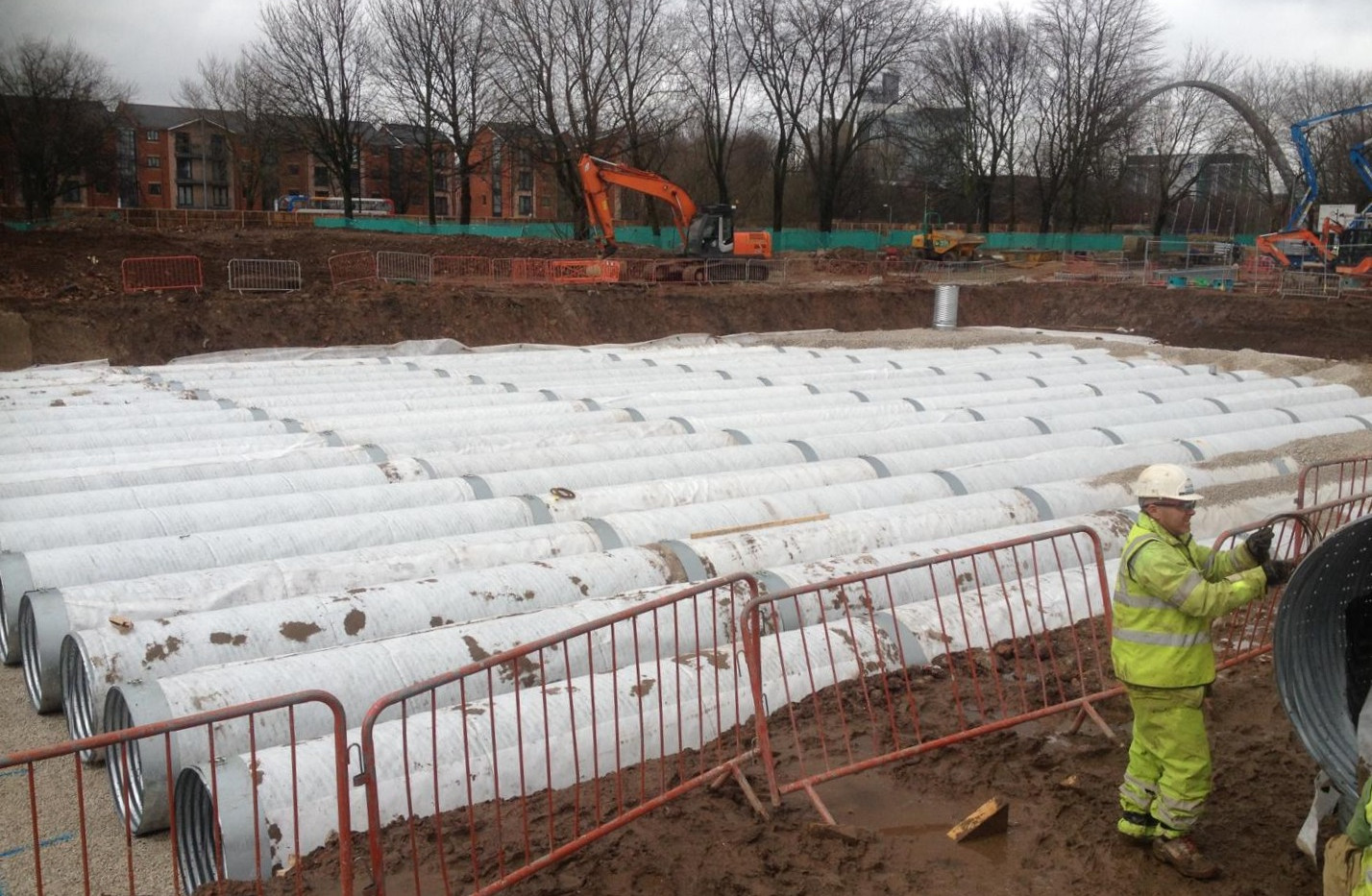 Fallowfield Student Accommodation - attenuation tanks