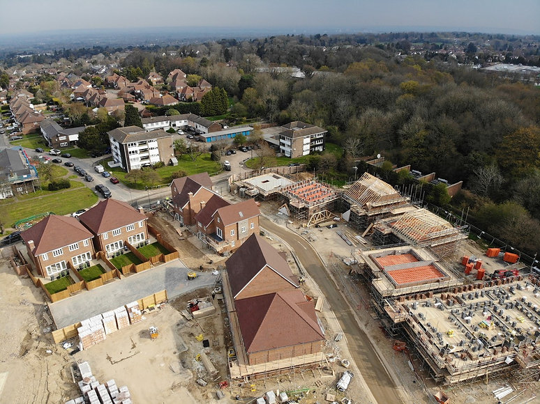 AA-006-Aerial view of new housing develo