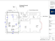 Ground floor existing plan and Proposed
