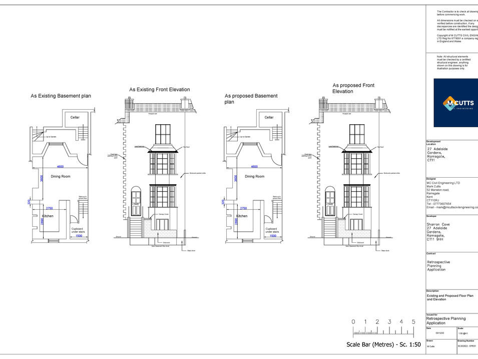 Existing and Proposed Floor Plan and ele