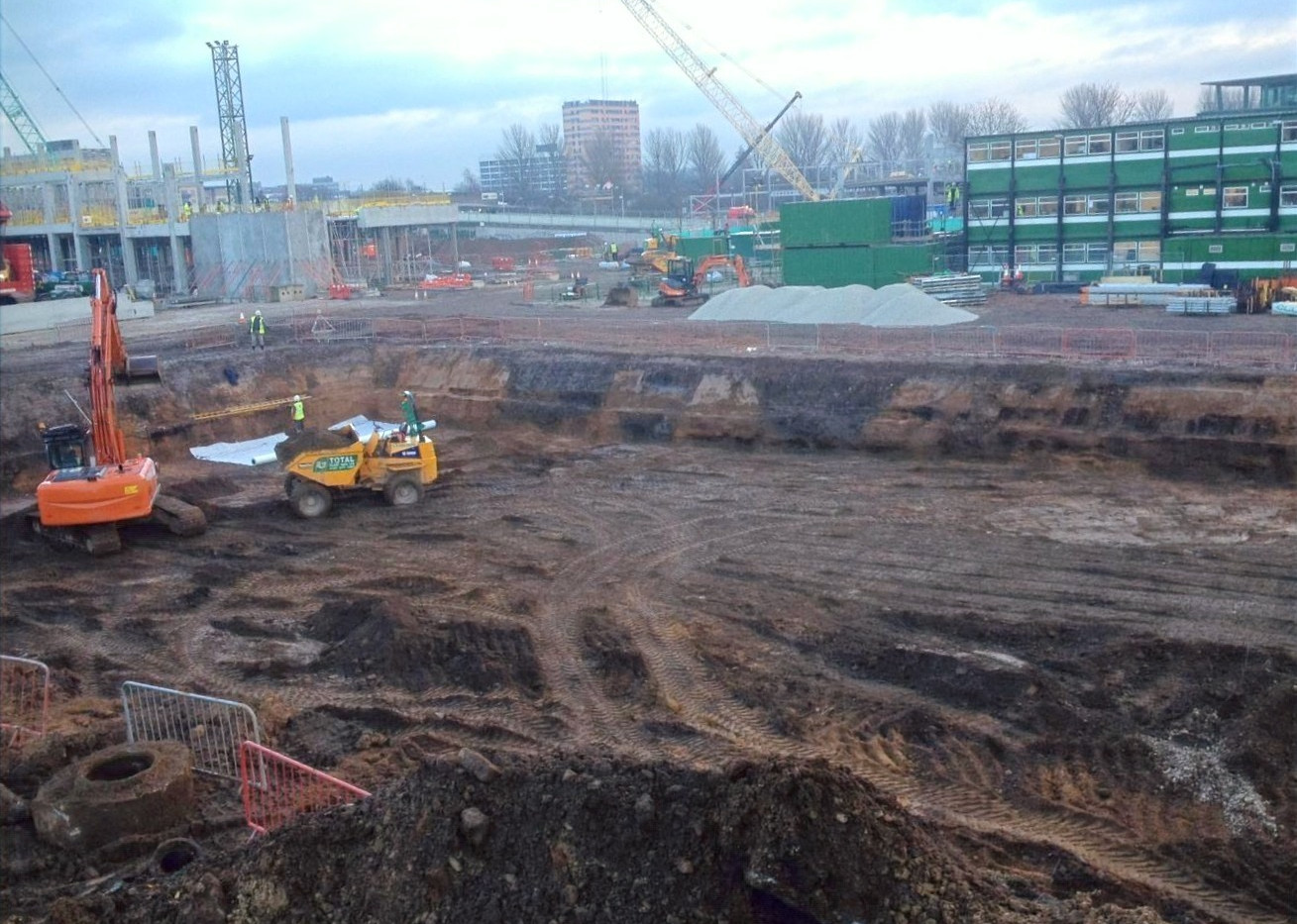 Fallowfield Student Accommodation - excavation