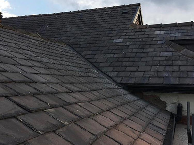 Completed roofing