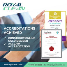 We start the week with news that Royal Clean | Builders Clean London & Essex have achieved Constructionline GOLD and Acclaim Accreditation. 👏👏👏