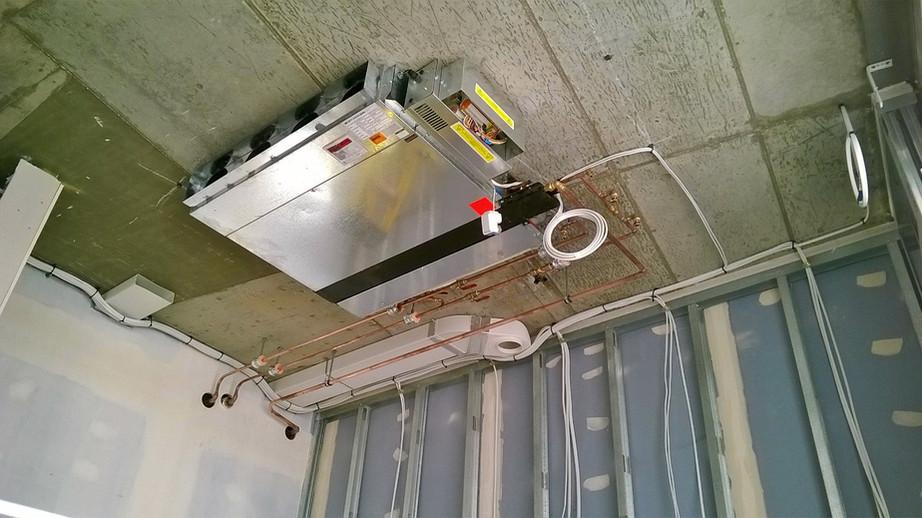 MVHR 1st fix installation
