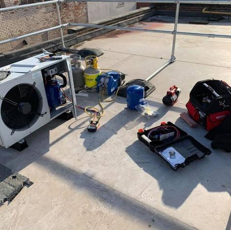 Compressor Replacement - J&E Hall condensing unit