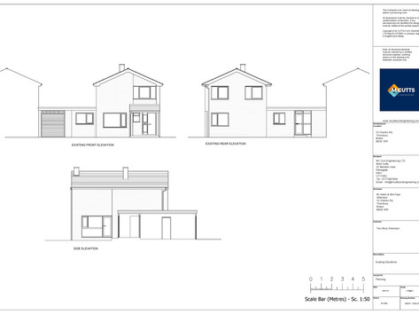 Existing Elevations - 202031 - EXELV01-p