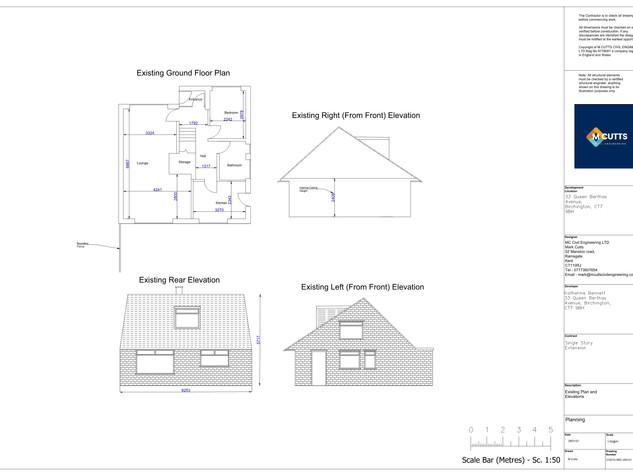 210010-ARC-200-01 - Existing Plan and El